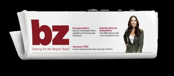 Zeitungskopf der neuen «bz – Zeitung für die Region Basel»